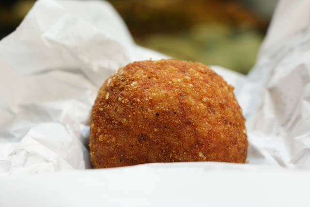 Arancini - Fried Rice Ball Napoli Naples Italy Night Via dei Tribunali Via dei Tribunali