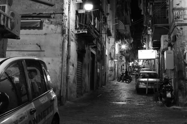 Naples Italy at Night