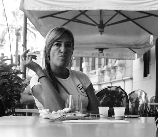 Waitress in Naples Italy