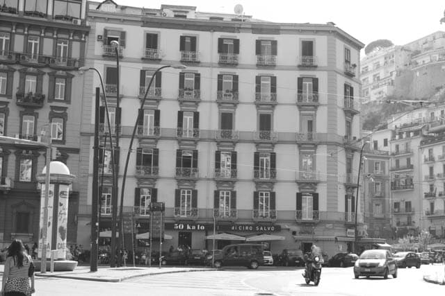 Naples Italy Black & White