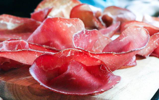 Cured Meat at Pagani - Bresola and Speck Mario Batali Food Tour NYC