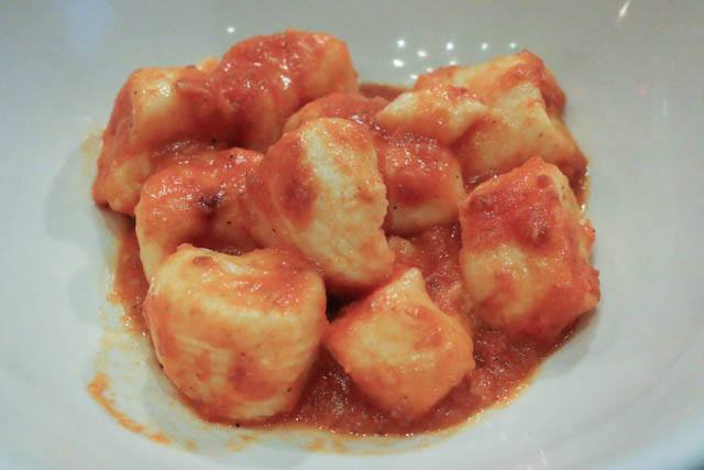 Gnocchi with Ricotta, Sausage and Fennel at Lupa Osteria Romana Mario Batali Food Tour NYC