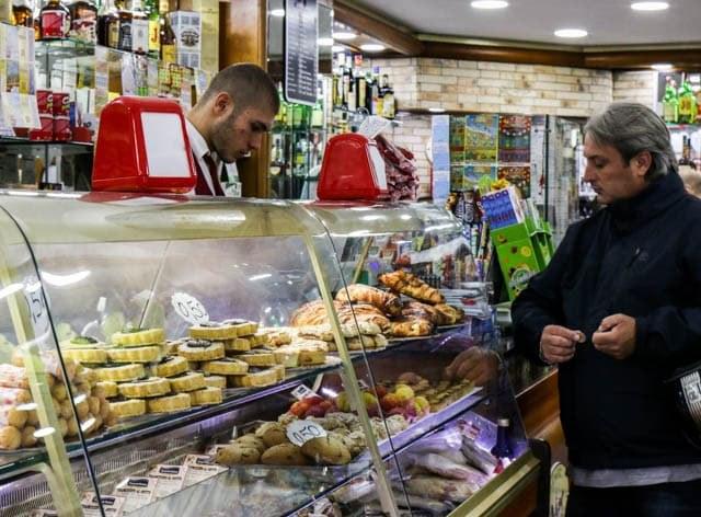 Pastry Counter at Caffè Spaccanapoli - Coffee and Sfogliatella - Naples Breakfast of Champions