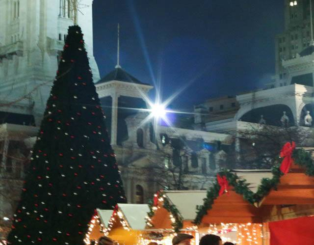 Sparkly and Festive Christmas Village in Philadelphia