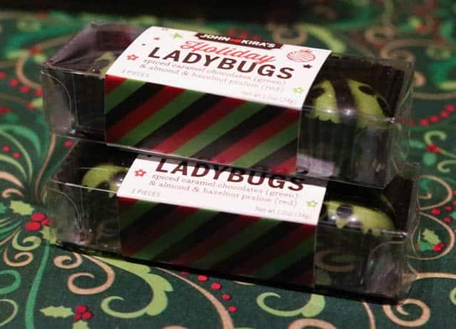 Local Ladybug Chocolates from John & Kiras at the Christmas Village in Philadelphia