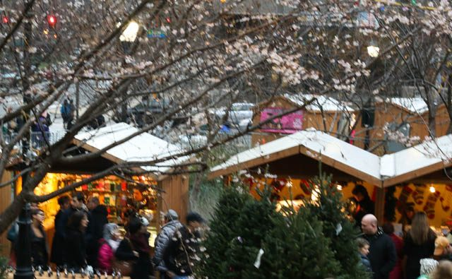 Stands at Christmas Village in Philadelphia