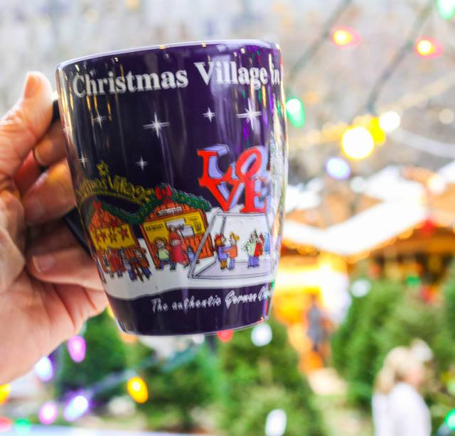Cheers to the Christmas Village in Philadelphia with a Warm Mug of Glühwein