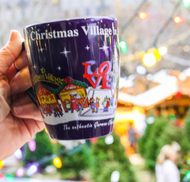 Mug of Gluhwein at the Christmas Village in Philadelphia