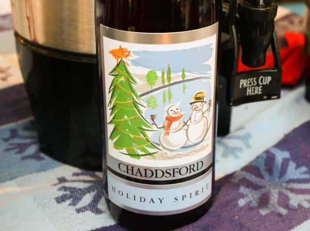Mulled Wine from Chaddsford Winery at the Christmas Village in Philadelphia
