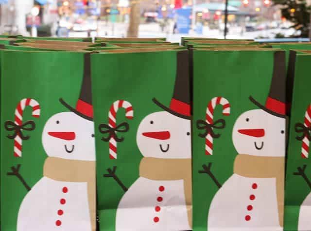 Shopping at the Christmas Village in Philadelphia