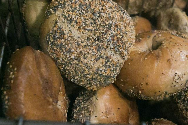 Everything Bagels at Ess-a-Bagel in New York City