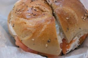 Bagel with Nova and Cream Cheese at Ess-a-Bagel in New York City