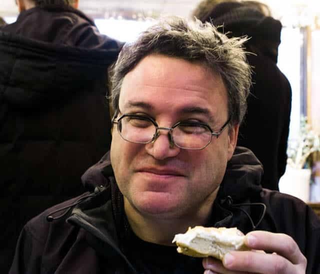 Daryl Enjoying One Last Bagel at the Original Ess-a-Bagel New York