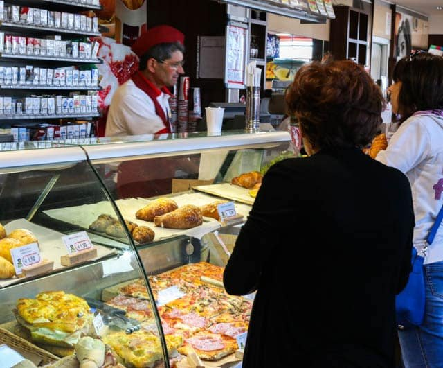 Pizza and More at an Italian Rest Stop in Basilicata Italy