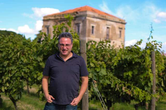 Daryl at a Roadside Vineyard in Basilicata Italy