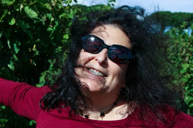 Mindi in the Vines in Basilicata Italy
