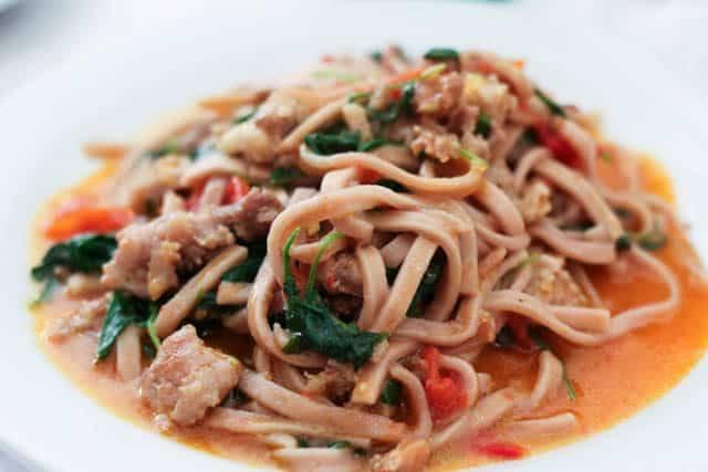 Tagliolini all' Aglianico con Salsiccia Fresca Pomodorini e Rucola Basilicata Italy