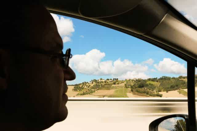 Driving through the Aglianico del Vulture Wine Region in Basilicata Italy