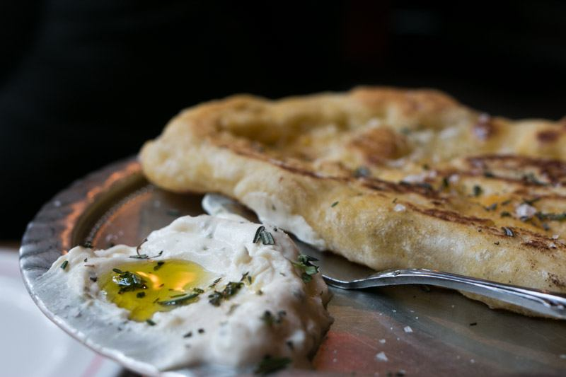 Flatbread with Fromage Blanc at Dirty French in New York City