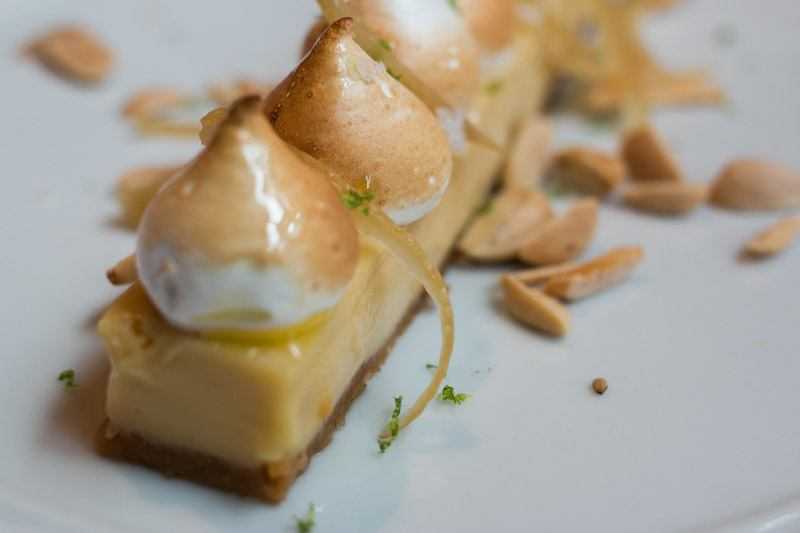 Citrus Tarte made with Preserved Lemon, Almonds and Toasted Meringue Dirty French NYC
