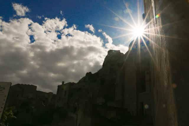 Sun Streaming in Matera Italy