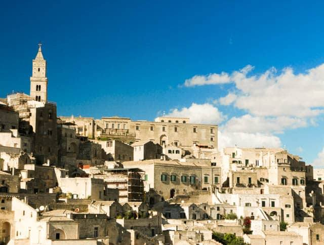 A corner of the skyline in Matera. The ancient city in Basilicata could be Italy's next great attraction. Visit Matera Italy