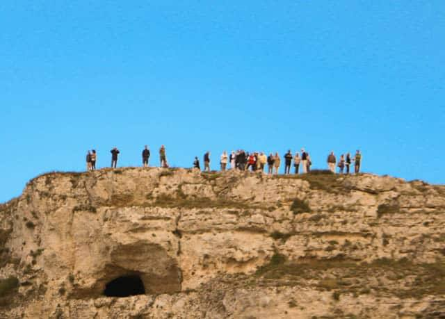 Tourists in Matera. Visit Matera Italy