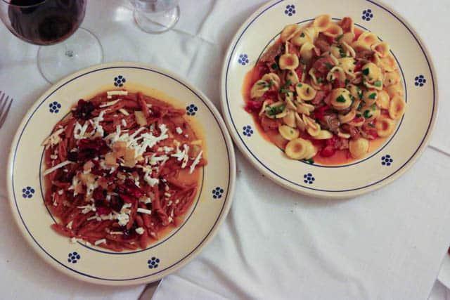 Pastas and Wine at Trattoria del Caveoso Visit Matera Italy