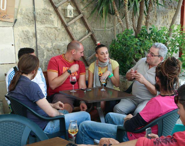 Chilling Out at a Matera café. Visit Matera Italy