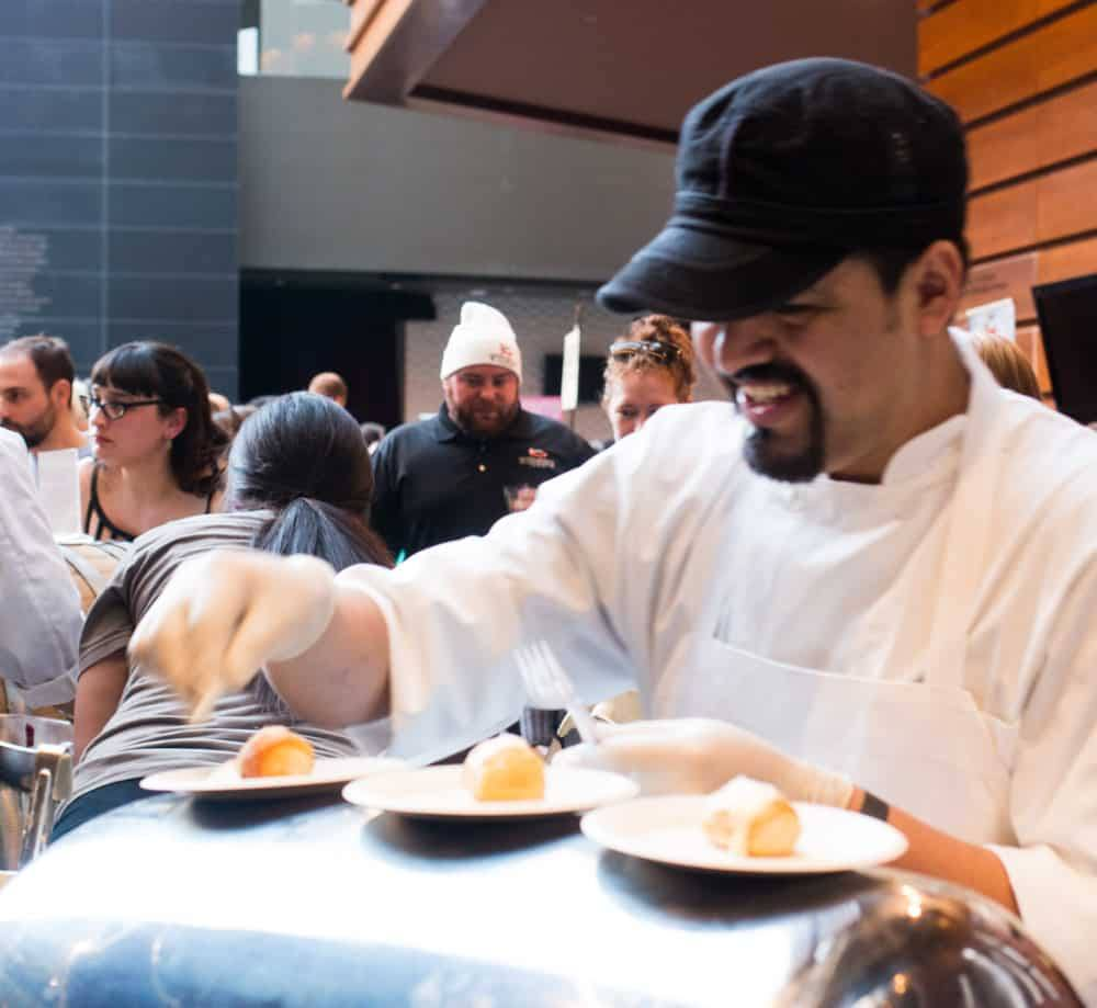 Brewer's Plate features food from local restaurants paired with beverages from regional breweries and distilleries. This year's event was held at the Kimmel Center for the Performing Arts in Philadelphia for the second year in a row. Brewer's Plate 2015 Philadelphia Brewers Plate