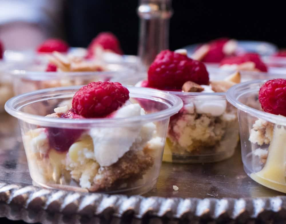 Desserts are also available at Philadelphia's Brewer's Plate. Varga Bar's cups of meyer lemon cheesecake trifle were a colorful addition to the event. Brewer's Plate 2015 Philadelphia Brewers Plate