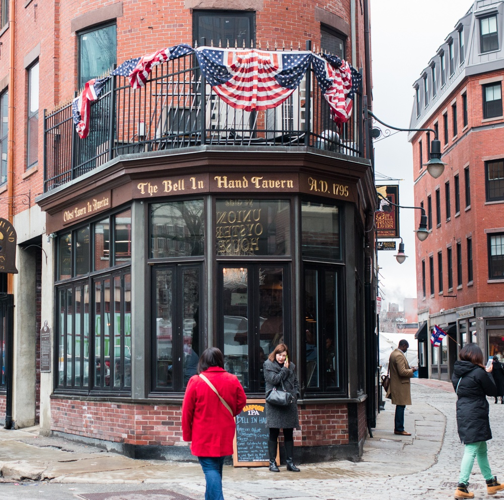 The Bell in Hand Tavern is the nation's oldest tavern. Drinking in Boston