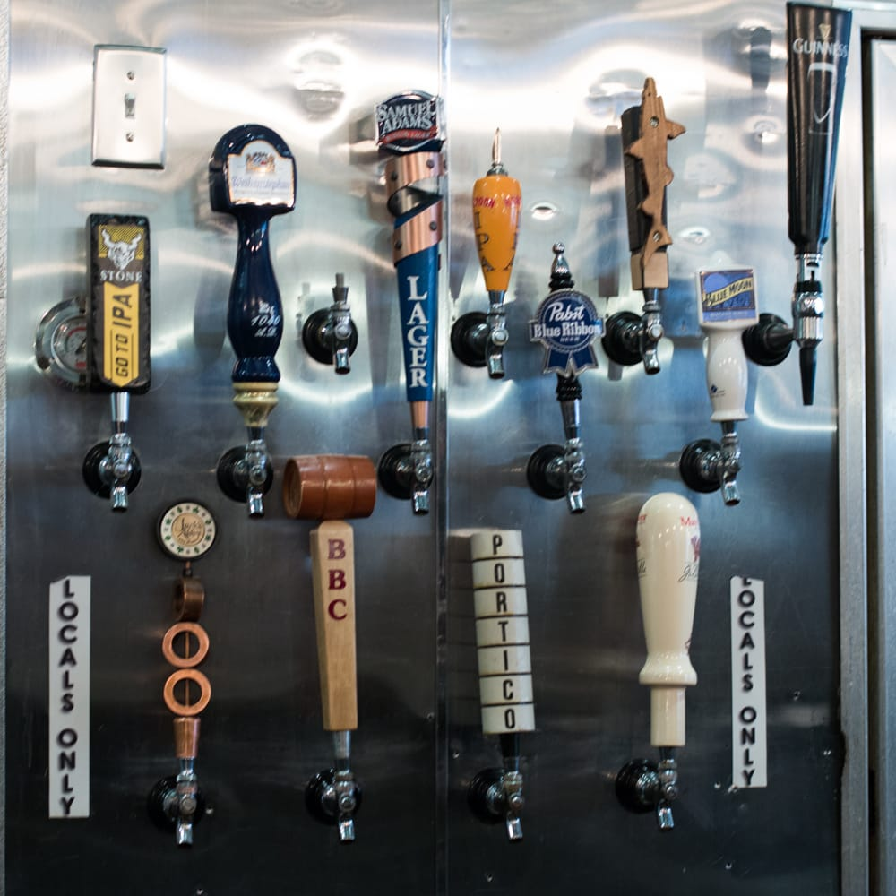 Beer Taps at Parish Cafe and Bar in Boston Massachusetts