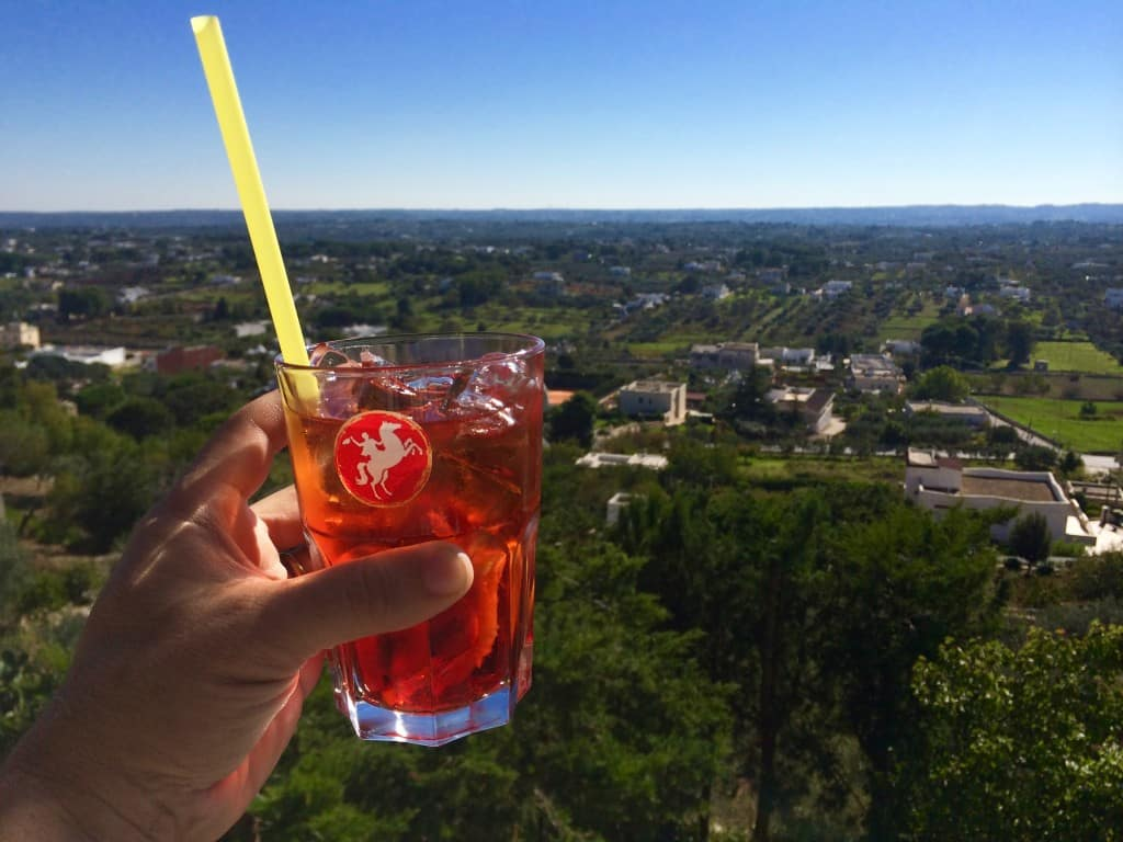 Drinking a Negroni while admiring the Puglian landscape is an experience that we will long remember. Puglia in a Day Trip to Puglia