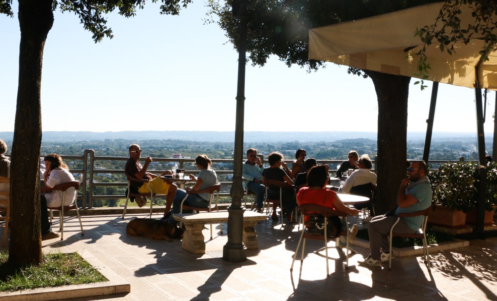 Since shops close for hours, mid-afternoon is a perfect time for lunch and drinks with a view. Puglia in a Day Trip to Puglia