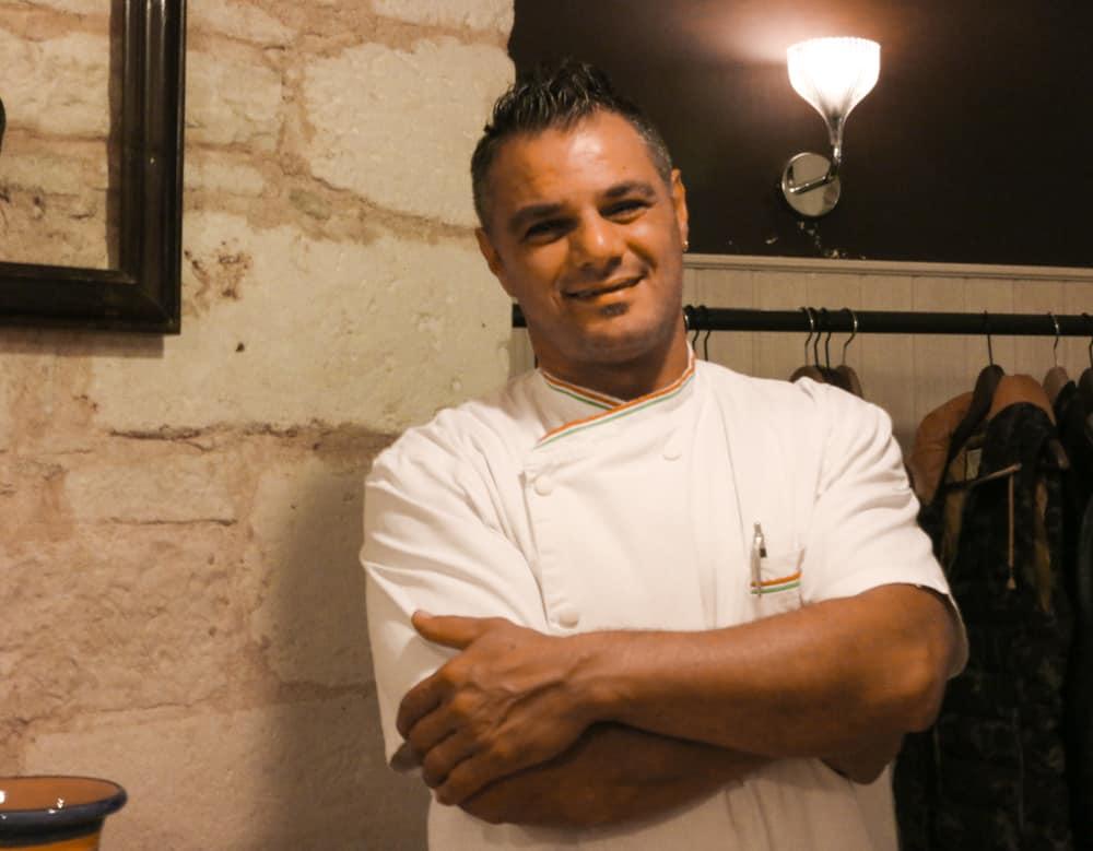 Chef Stefano Colucci at Osteria del Coco Pazzo in Puglia Italy