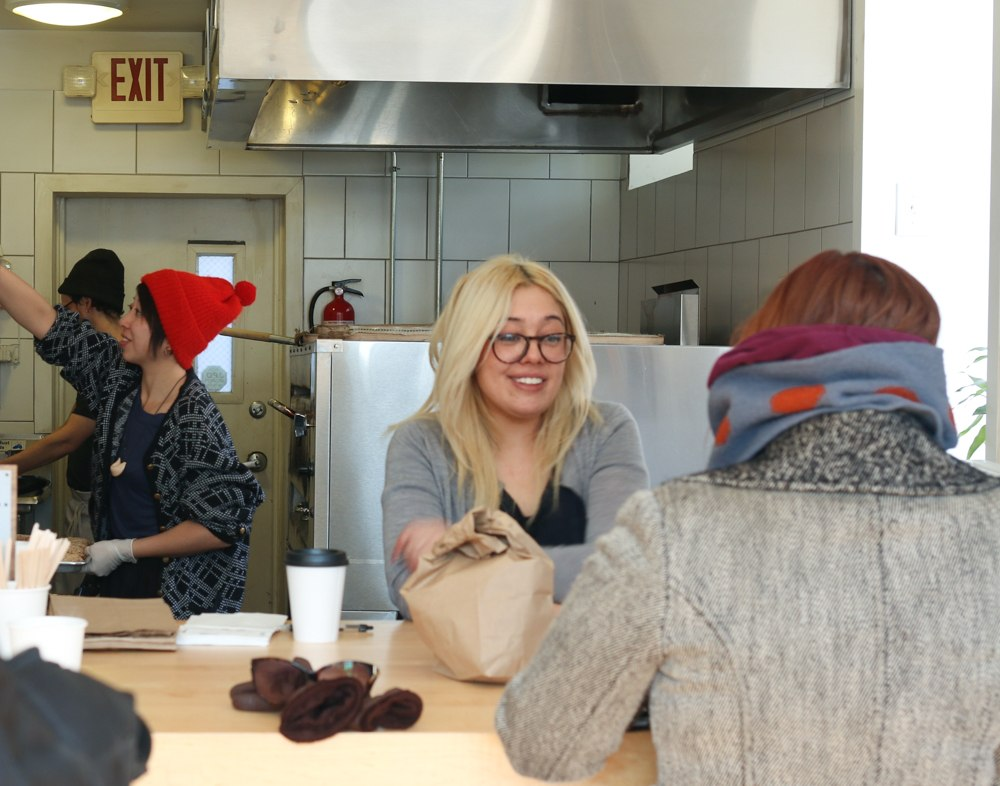 Desiree Casimiro and Ashley Horowitz at Philly Style Bagels