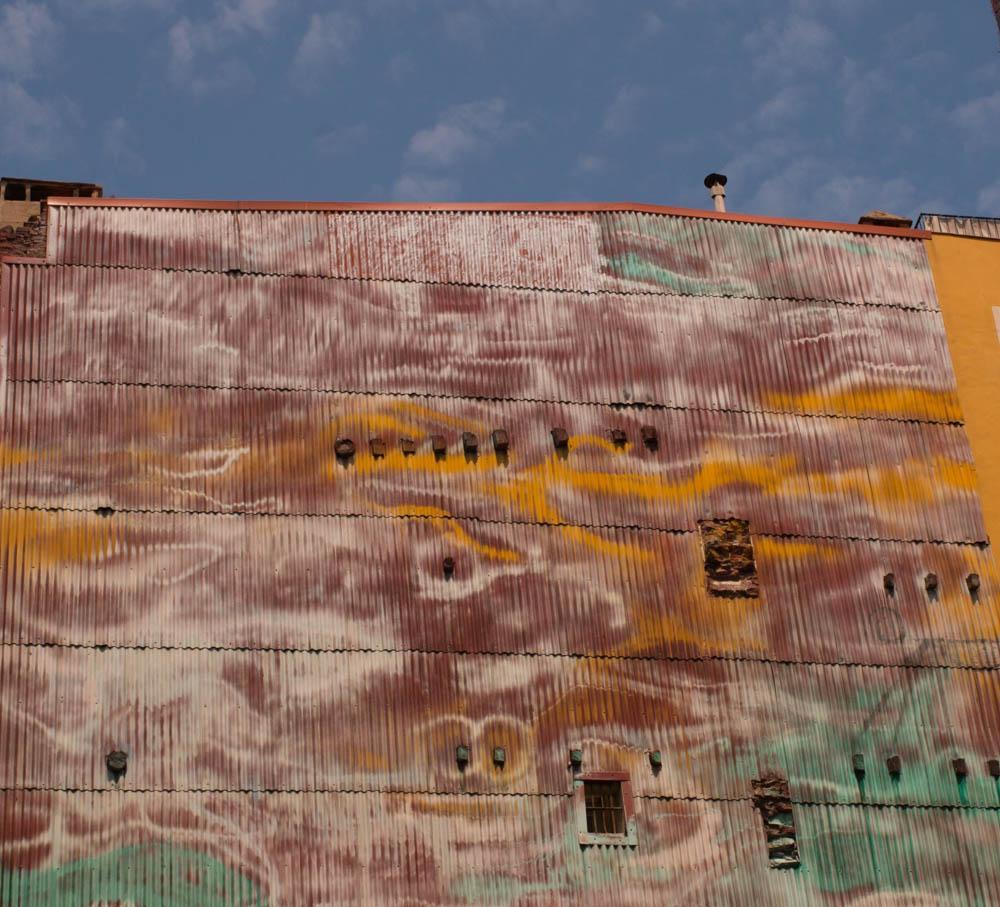 Colorful Building in Barcelona Spain