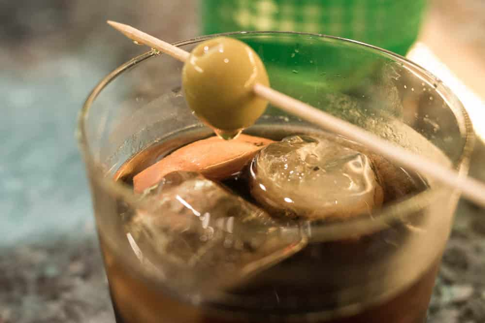 Vermouth with Olive in Barcelona Spain