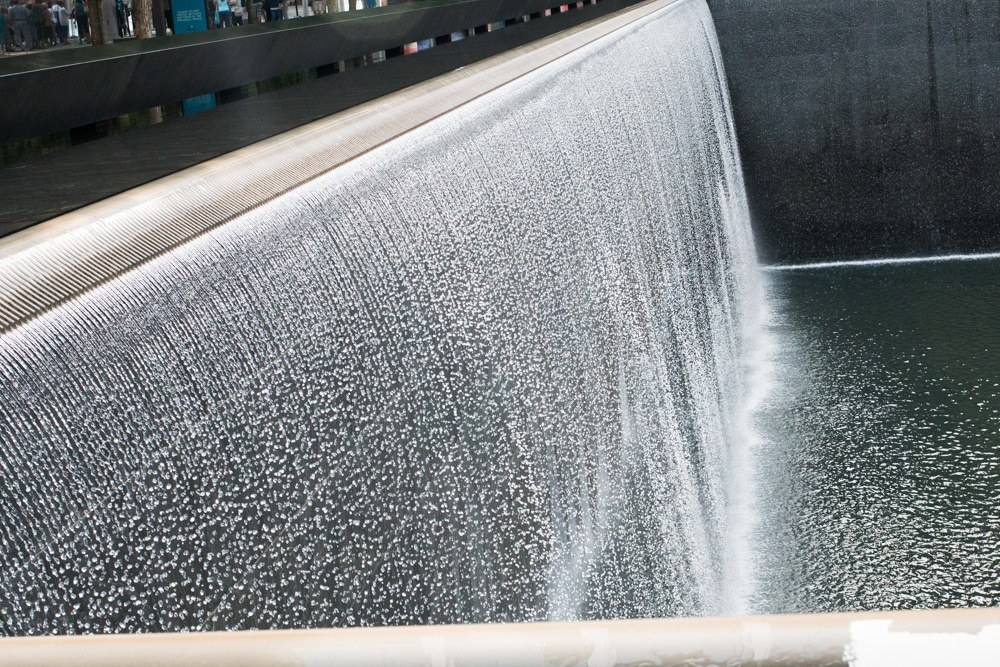 The waterfalls at ground zero are a moving tribute to the victims of 9/11. New York Quickie - Holiday Edition
