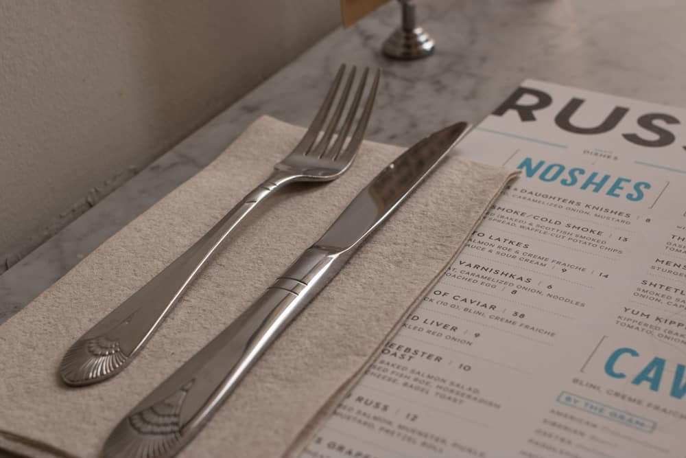 Russ & Daughters Cafe Menu in New York City