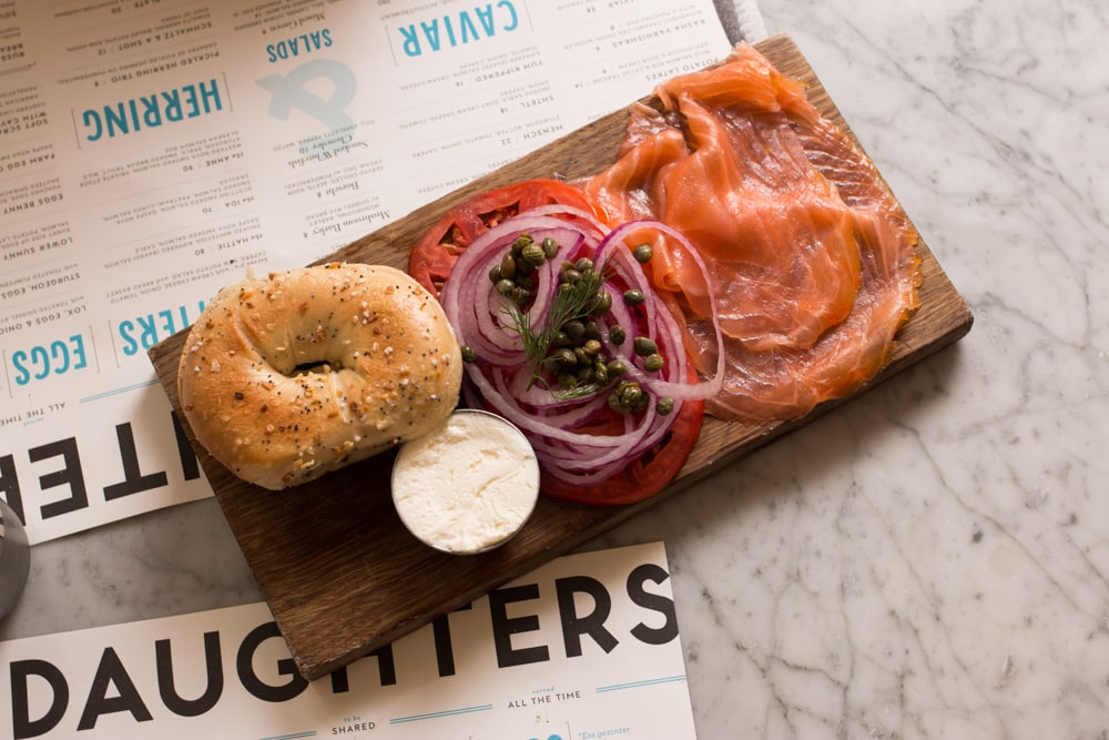 Fish Board at Russ and Daughters Cafe in New York City