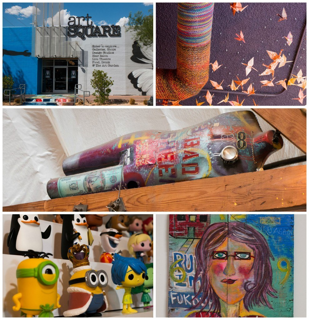 The arts scene is surprisingly vibrant in the Downtown 18b Arts District. The art ranges from funky toys to avant garde paintings.