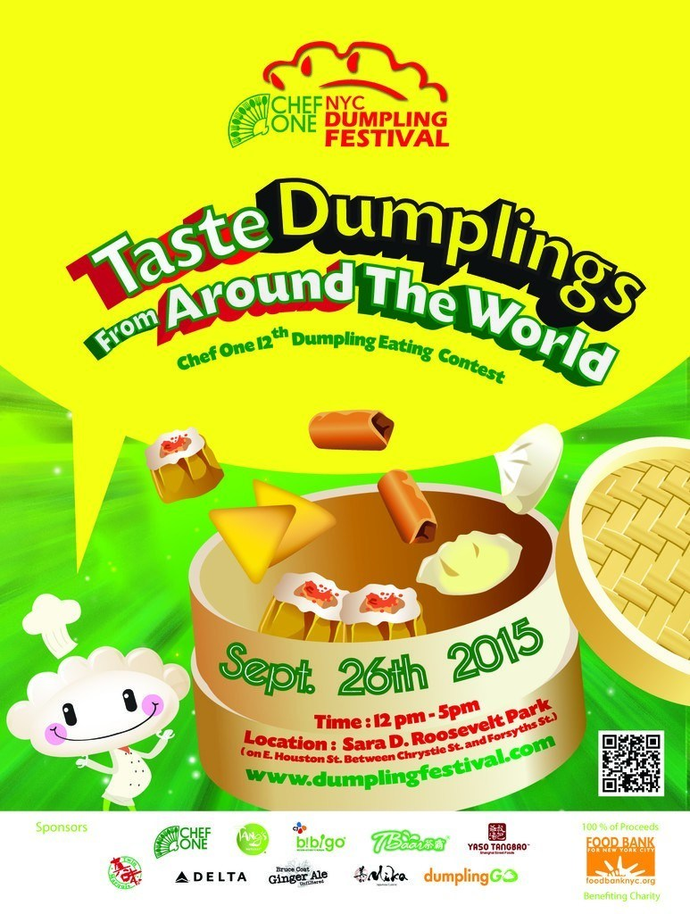 2015 Chef One New York City Dumpling Festival Poster
