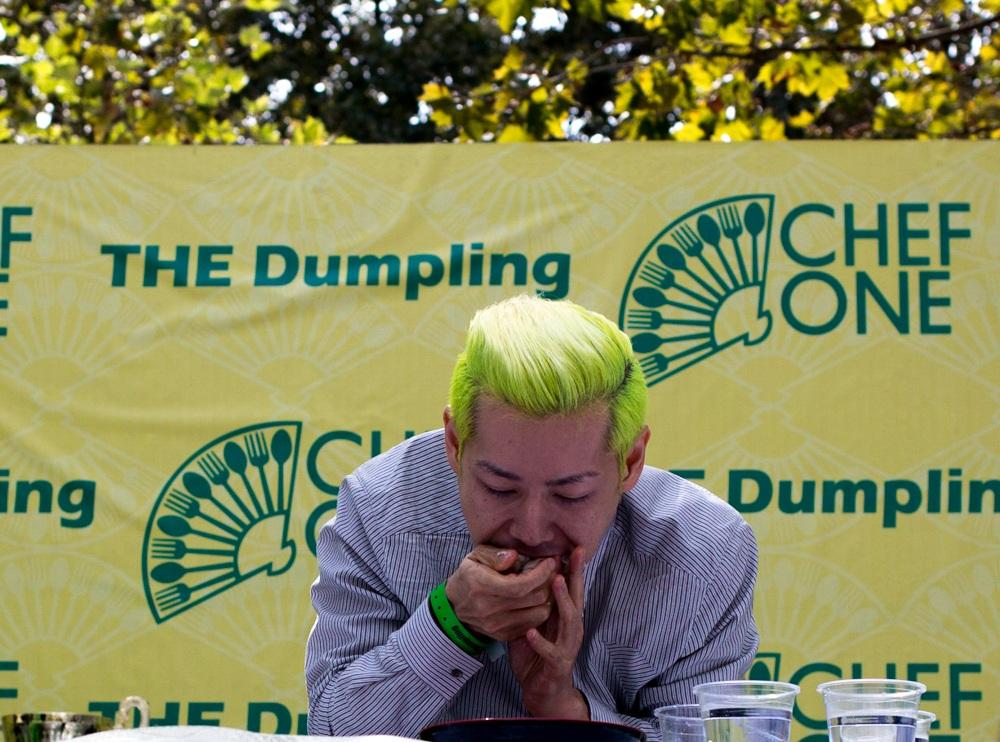 Takera Kobayashi at the NYC Dumpling Festival