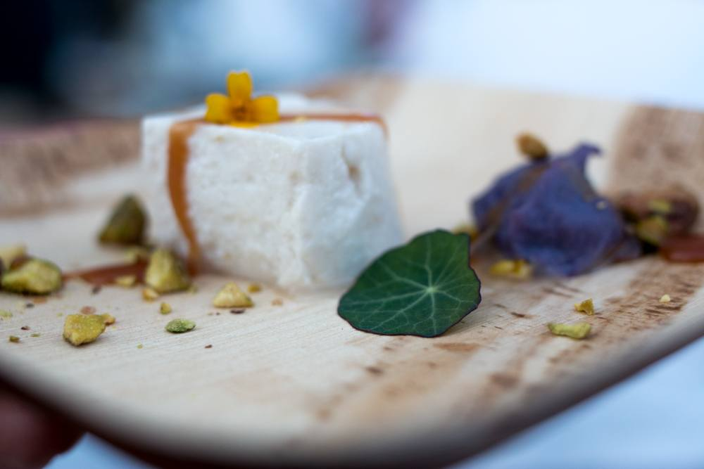 2015 Audi Feastival Audrey Claire - Coconut Panna Cotta with Purple Yam.
