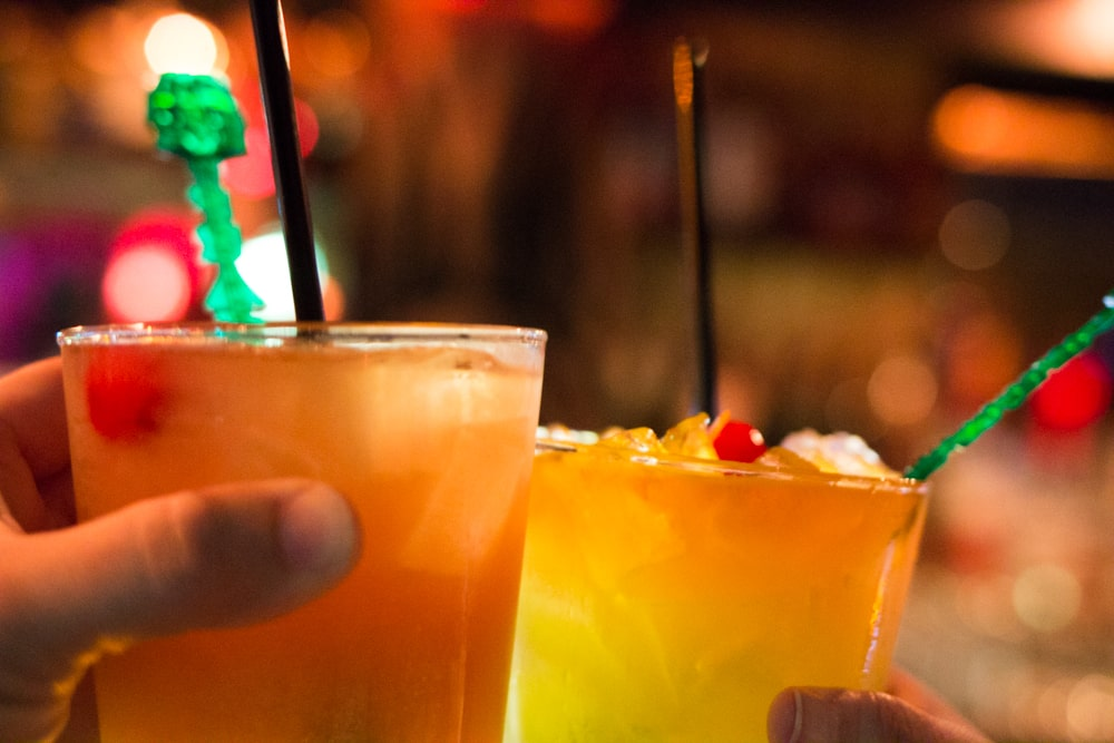 With fruity drinks like the Fink Bomb and The Sea Hag (both featured above), Frankie's Tiki Room is an oasis not far from the big casinos. las vegas off the strip