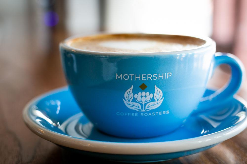 Cappuccino at Mothership Coffee Roasters in Las Vegas Nevada