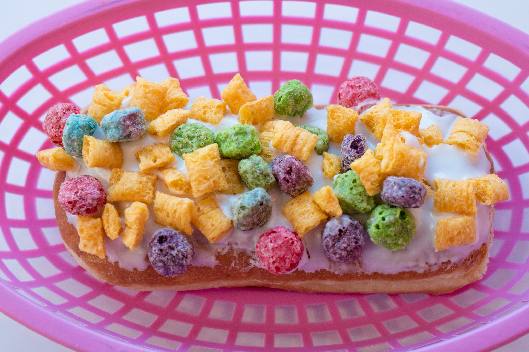 Fruity Pebbles PinkBox Doughnut