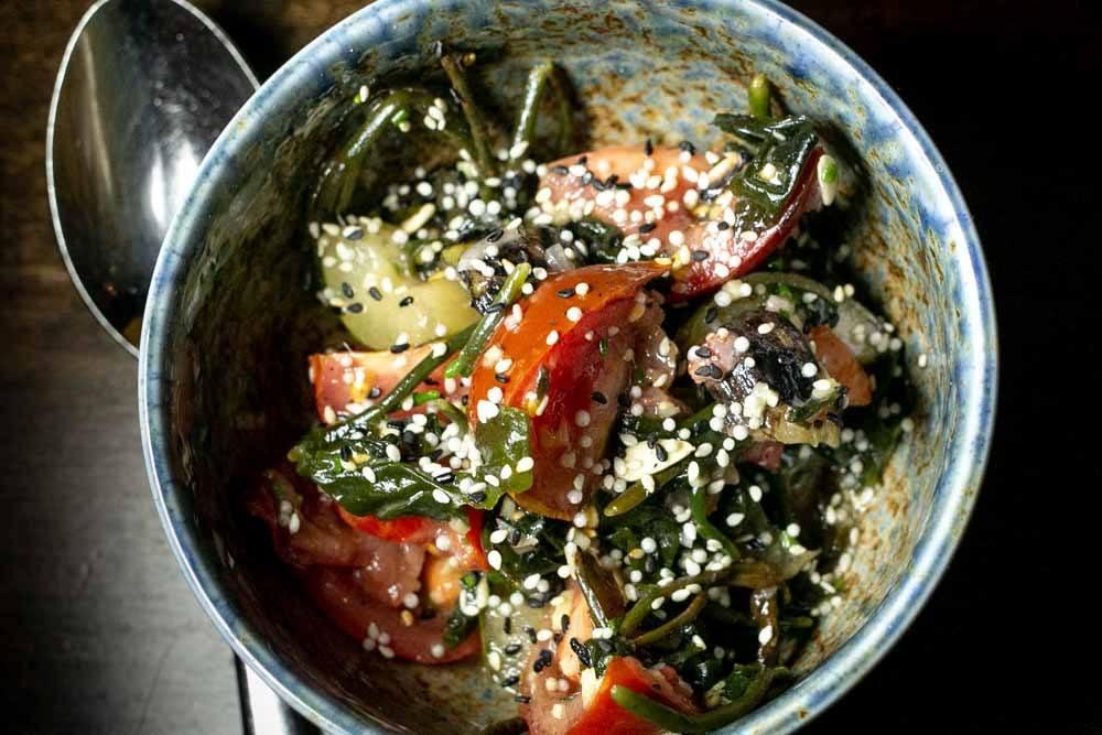 Tomato Salad at Sparrow + Wolf in Las Veas Nevada